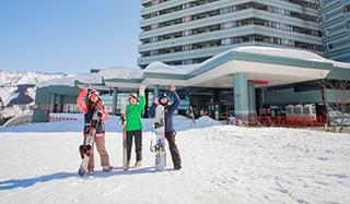 スキー場に隣接イメージ